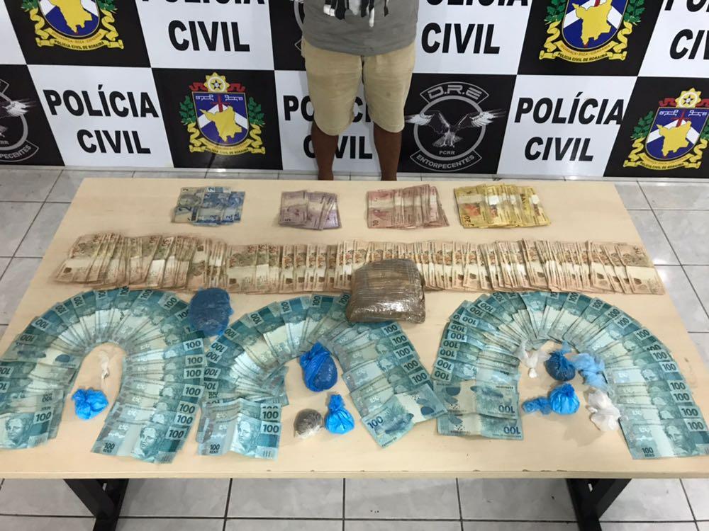 POLICIA CIVIL FECHA MAIS UM PONTO DE VENDA DE DROGAS